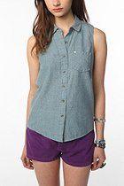 OBEY Gold Rush Sleeveless Chambray Shirt  #UrbanOutfitters