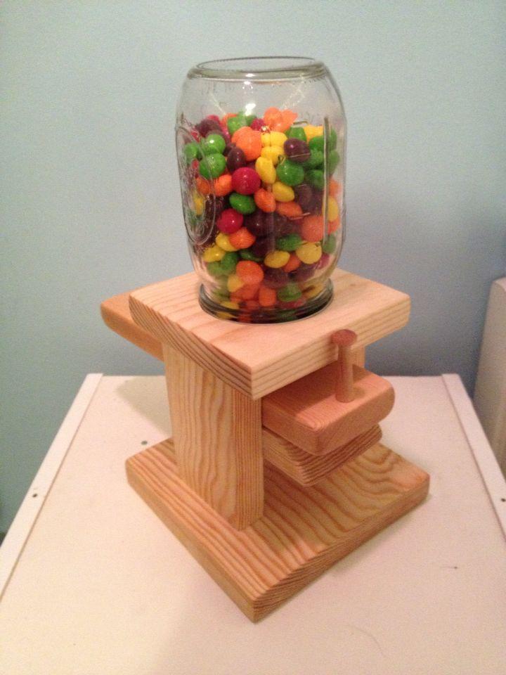 Handmade Wooden Gumball Dispenser