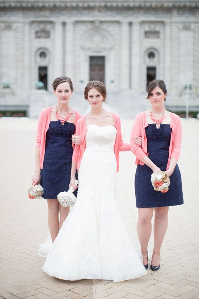 Darkest Blues Shades Of Pink Wedding Inspiration Want That