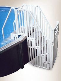 Confer Pool Entry System With Locking Gate Enclosure