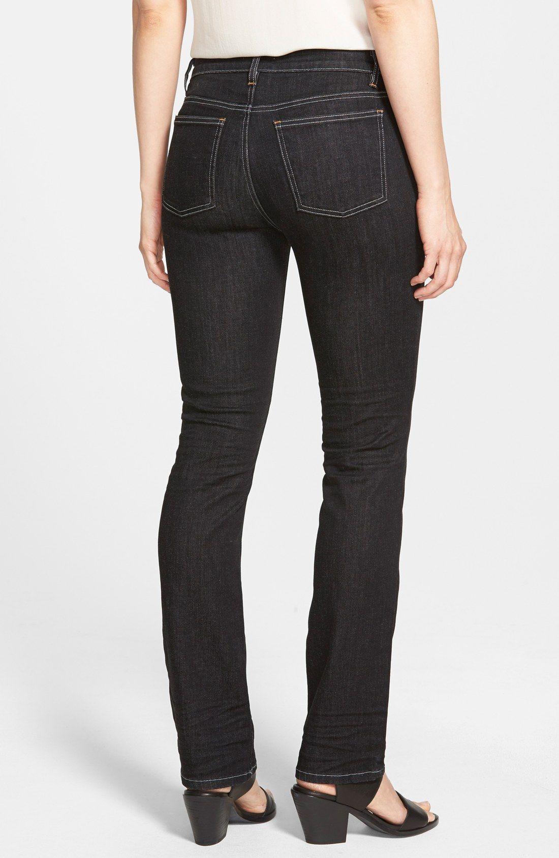 Eileen Fisher Straight Leg Stretch Jeans (Regular & Petite)