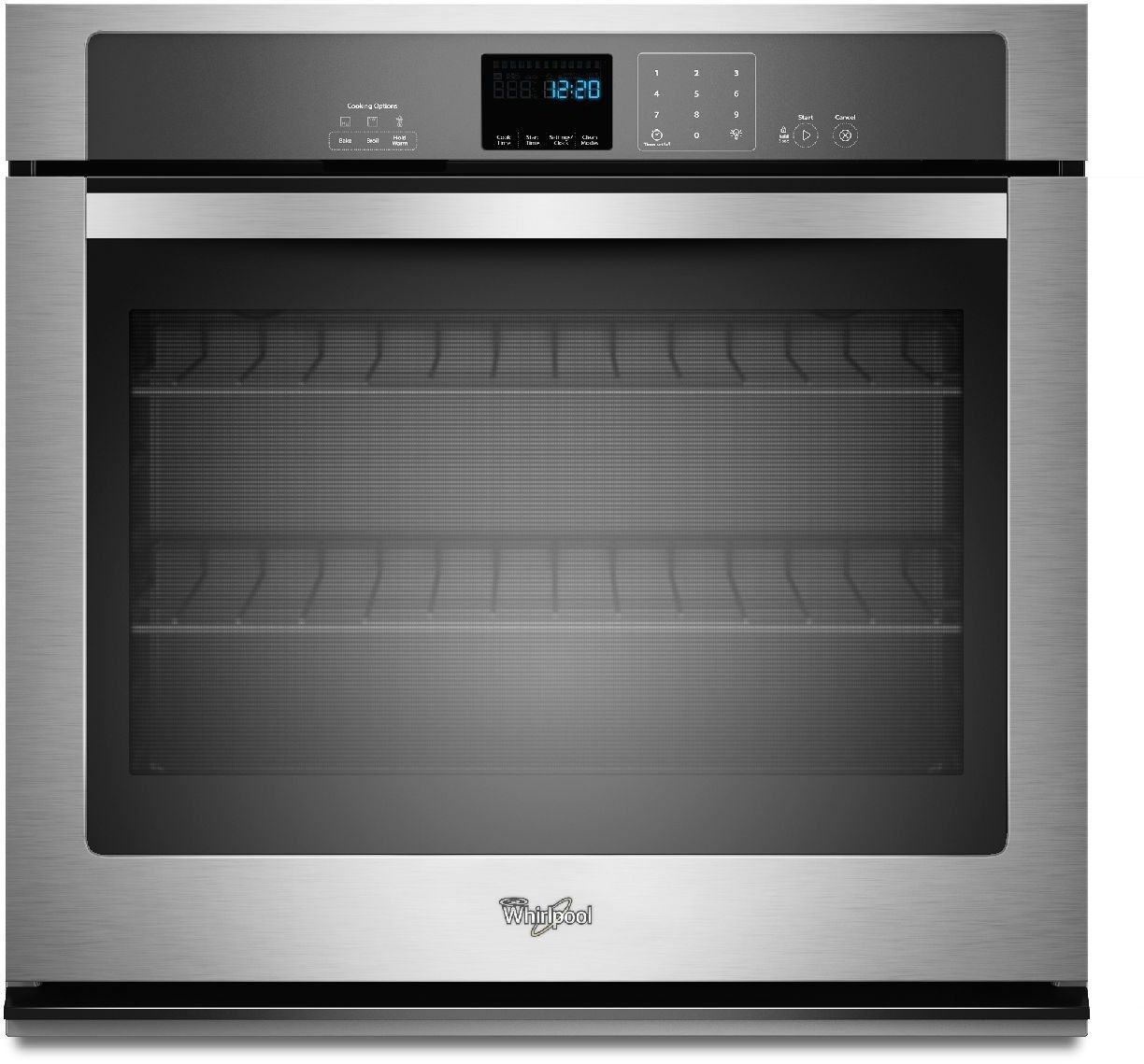 Whirlpool Wos51ec7hs 27 Inch Smart Single Oven With Touchscreen Frozen Bake Technology Temperature Sensor Multi Step Cooking Rapid Preheat Keep Warm Setti Electric Wall Oven Single Electric Wall Oven Wall Oven