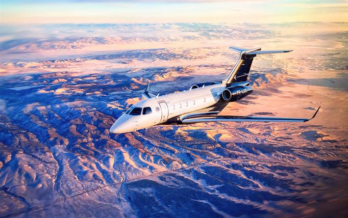 Download wallpapers embraer legacy 450 4k private jet - 4k cockpit wallpaper ...
