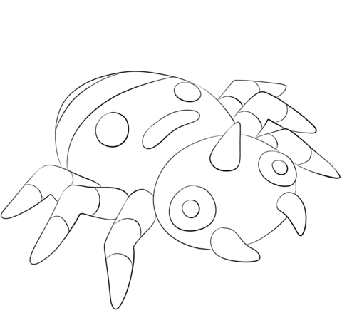 Click To See Printable Version Of Spinarak Coloring Page Coloring Pages Pokemon Coloring Pages Free Coloring Pages
