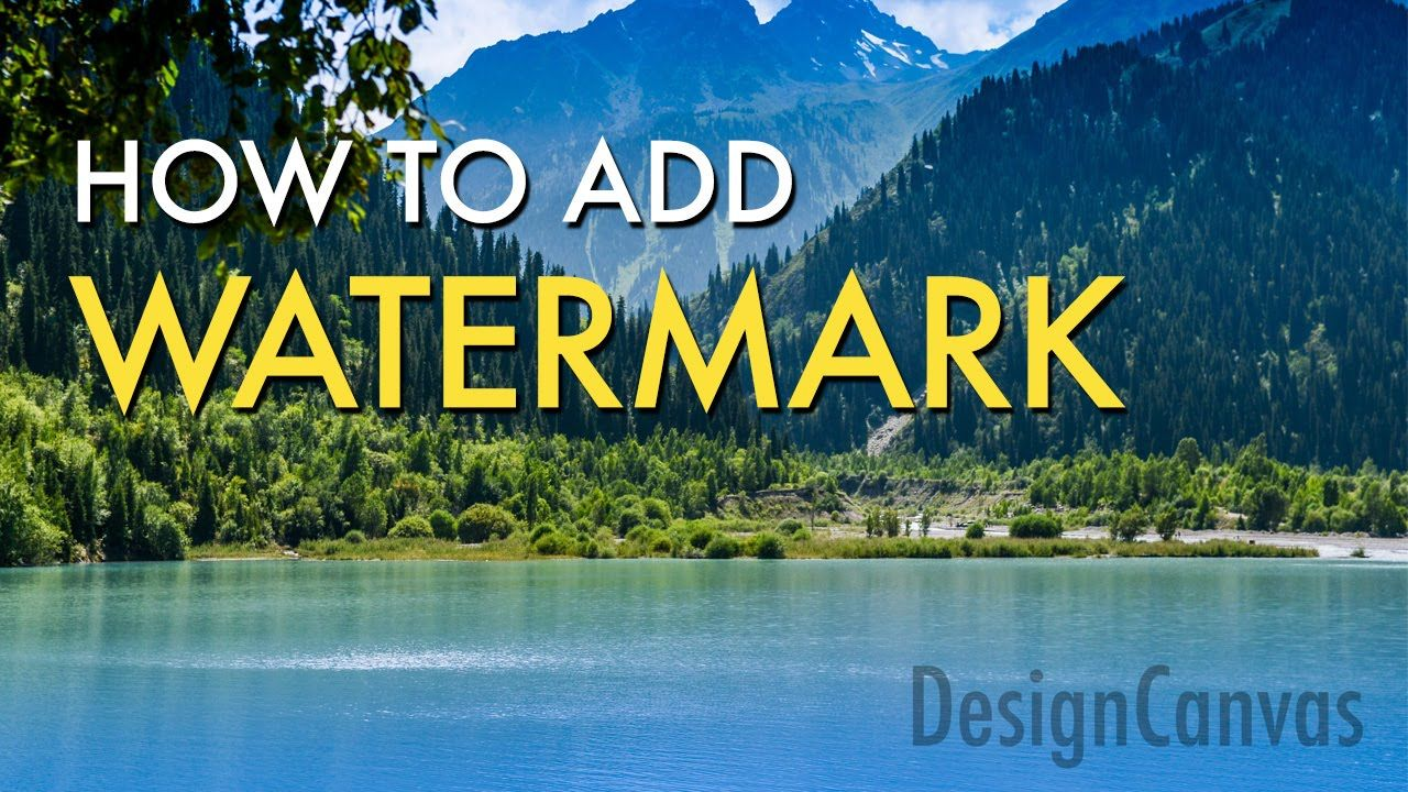 Add watermark tutorial cs6 cs6