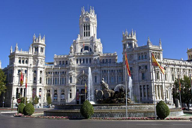 Palacio Fuente De Cibeles Madrid Spain Spain