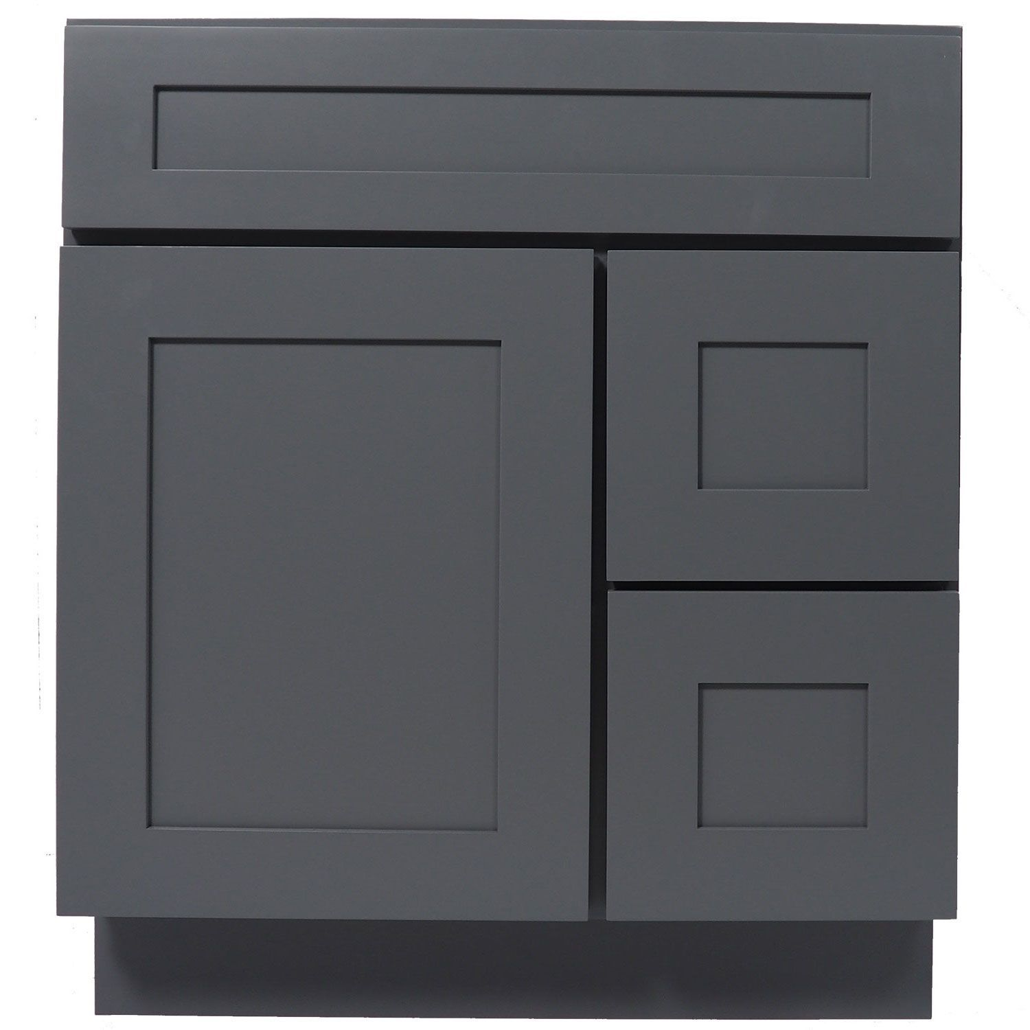 30 Inch Bathroom Vanity Single Sink Cabinet In Shaker Gray With