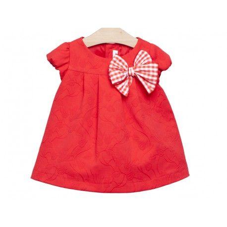 083980d97f489 www.pepaonline.com Estará preciosa! Vestido rojo con lazo de la Marca Fina  Ejerique en Vestidos para bebé. Descubre ahora la mejor tienda infantil  online