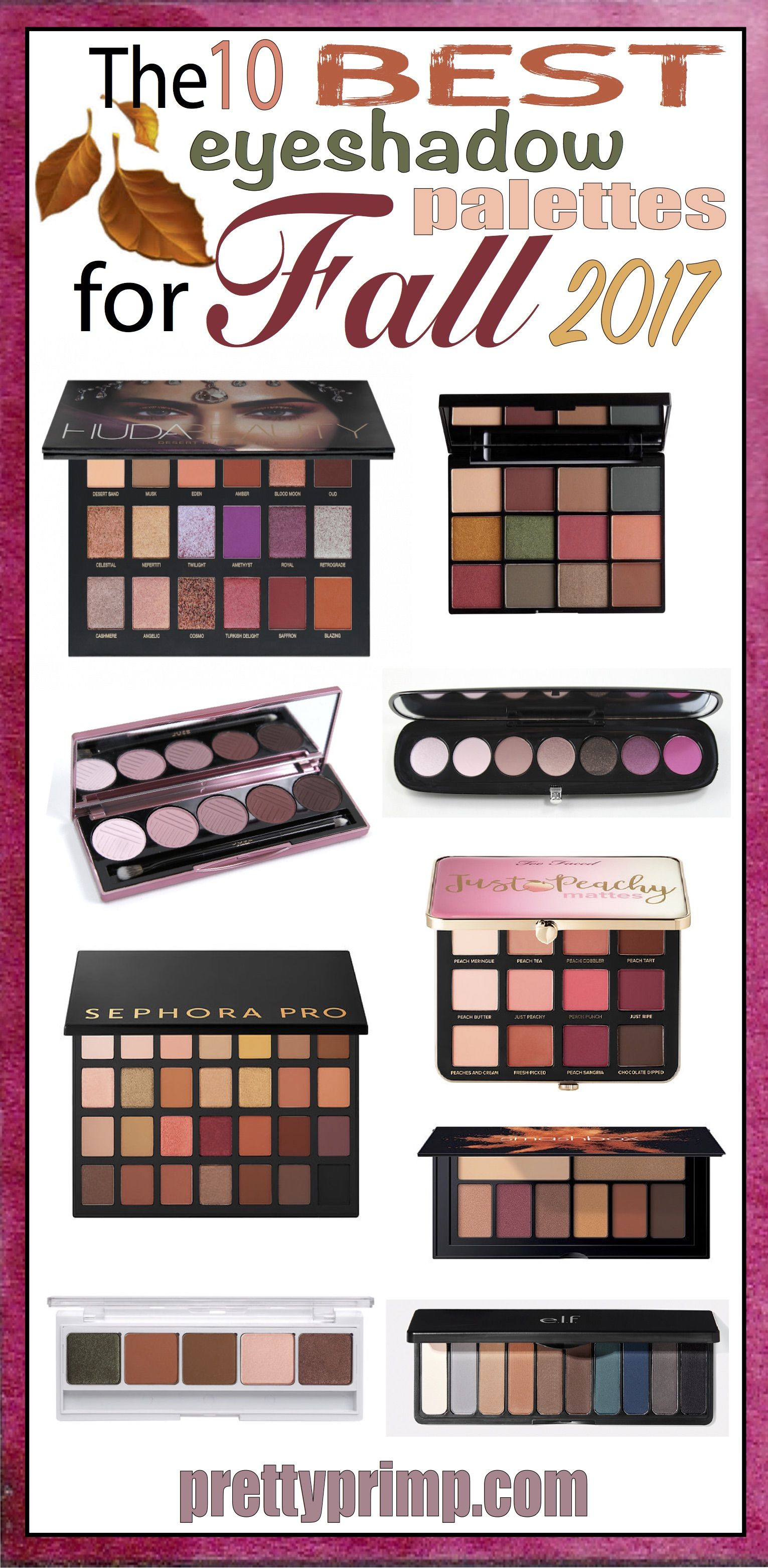 10 Fall Eyeshadow Palettes That Are Right On Trend For 2017