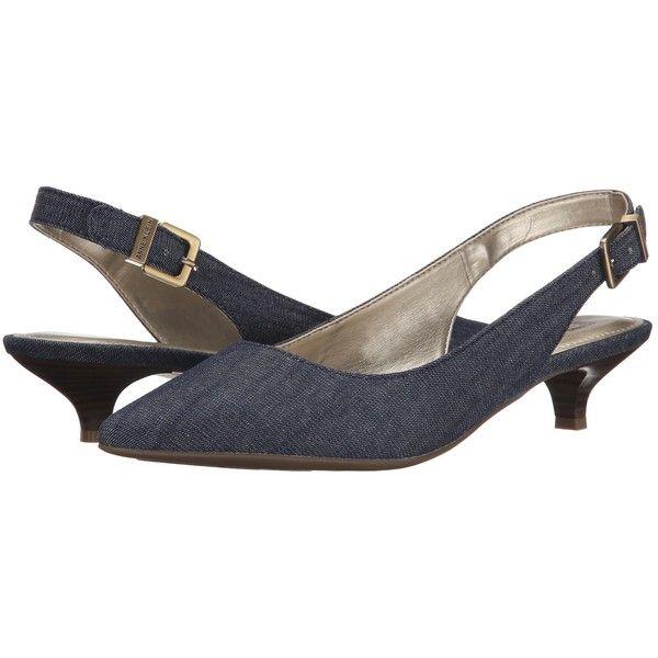 e836c4259a9 Pointed Toe Pumps · Anne Klein Expert (Medium Blue Fabric) Women s 1-2 inch heel  Shoes (