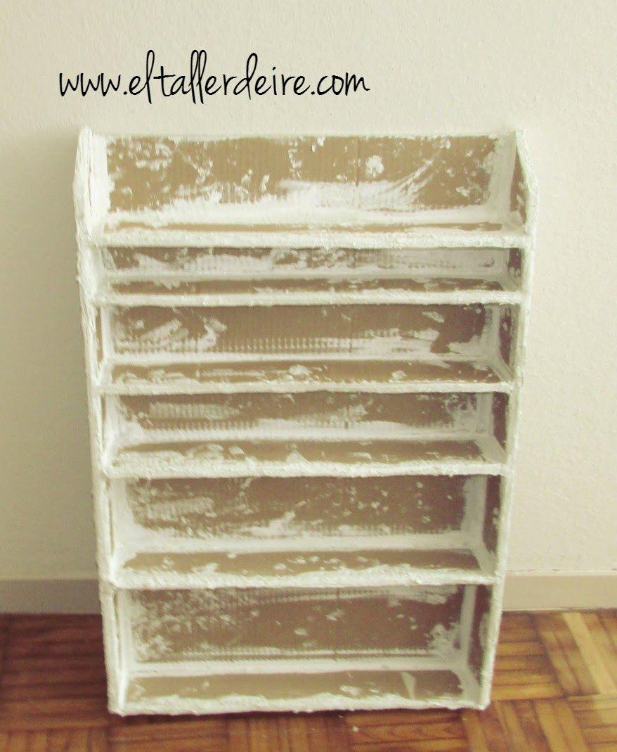 El taller de Ire: Cómo hacer una estantería de cartón resistente ...