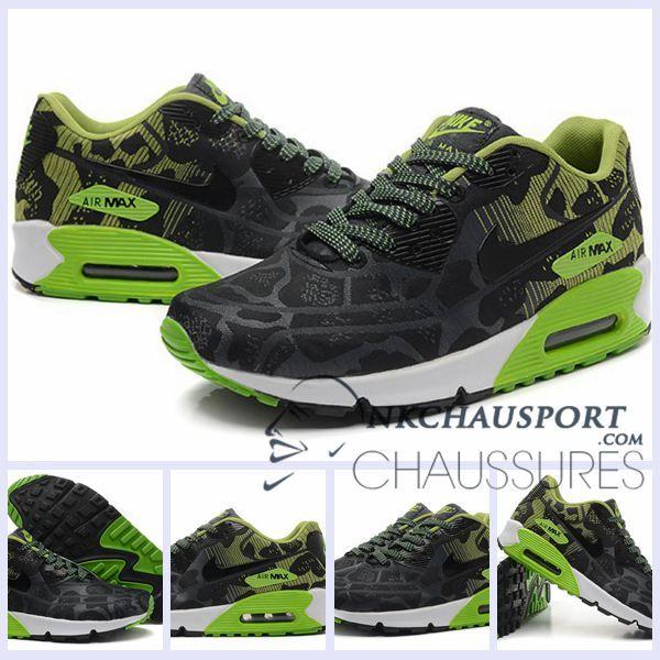 super popular 66dde 781a1 Nike Air Max 90 2016   Meilleur Chaussures Running Homme Noir Vert
