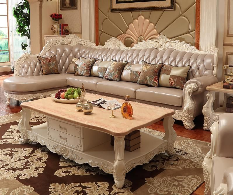 European Style Fabric Sectional Corner Sofa Set Living Room Furniture With Lounge Chair Chesterfield Sofa Chaise Recliner Ruang Tamu Ruang