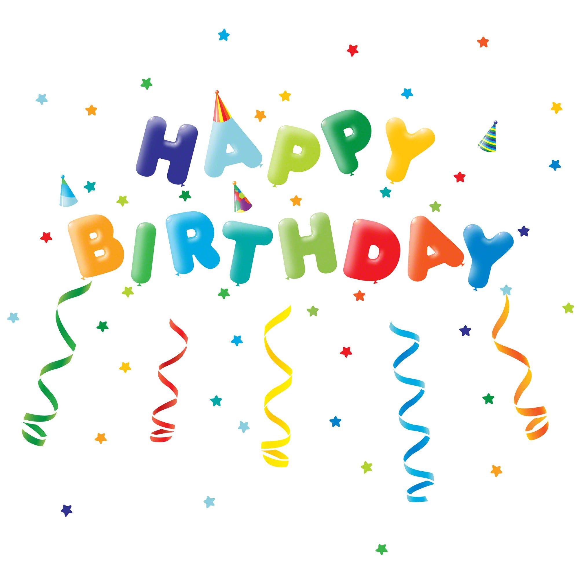 Birthday Wall DecalsPeel stick vinyl Removable reusable non – Free Birthday Cards Via Text Message