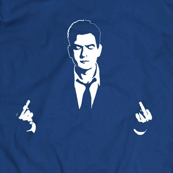 charlie sheen t shirt