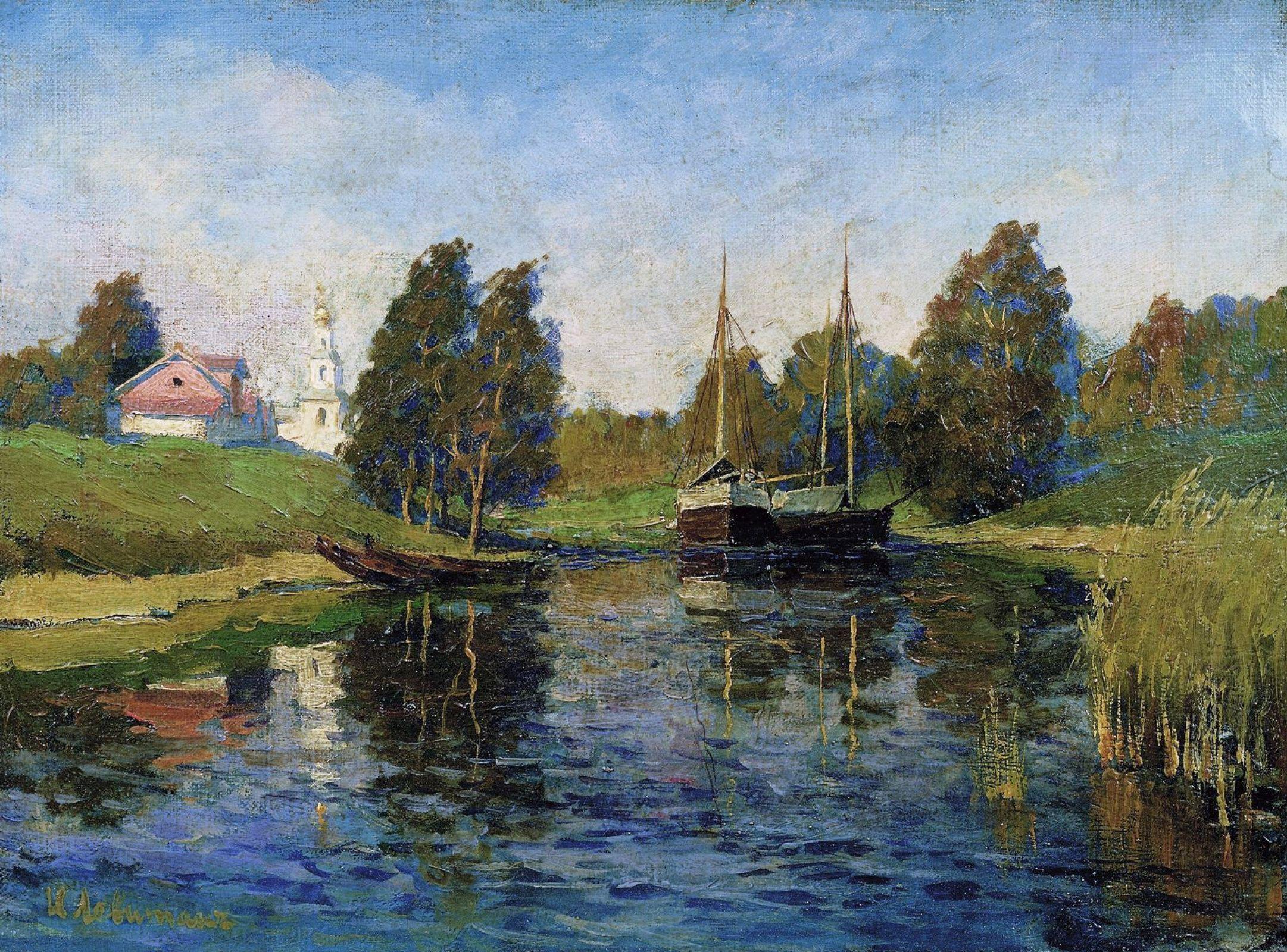 Isaac Levitan - Lake in Autumn | Art de réalisme, Comment peindre et Peinture paysage