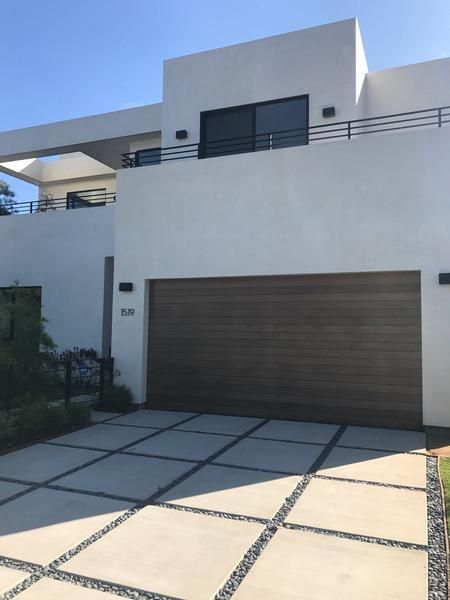 Emilio Modern Style Custom Wood Garage Door Modern Garage Doors Facade House Modern Driveway