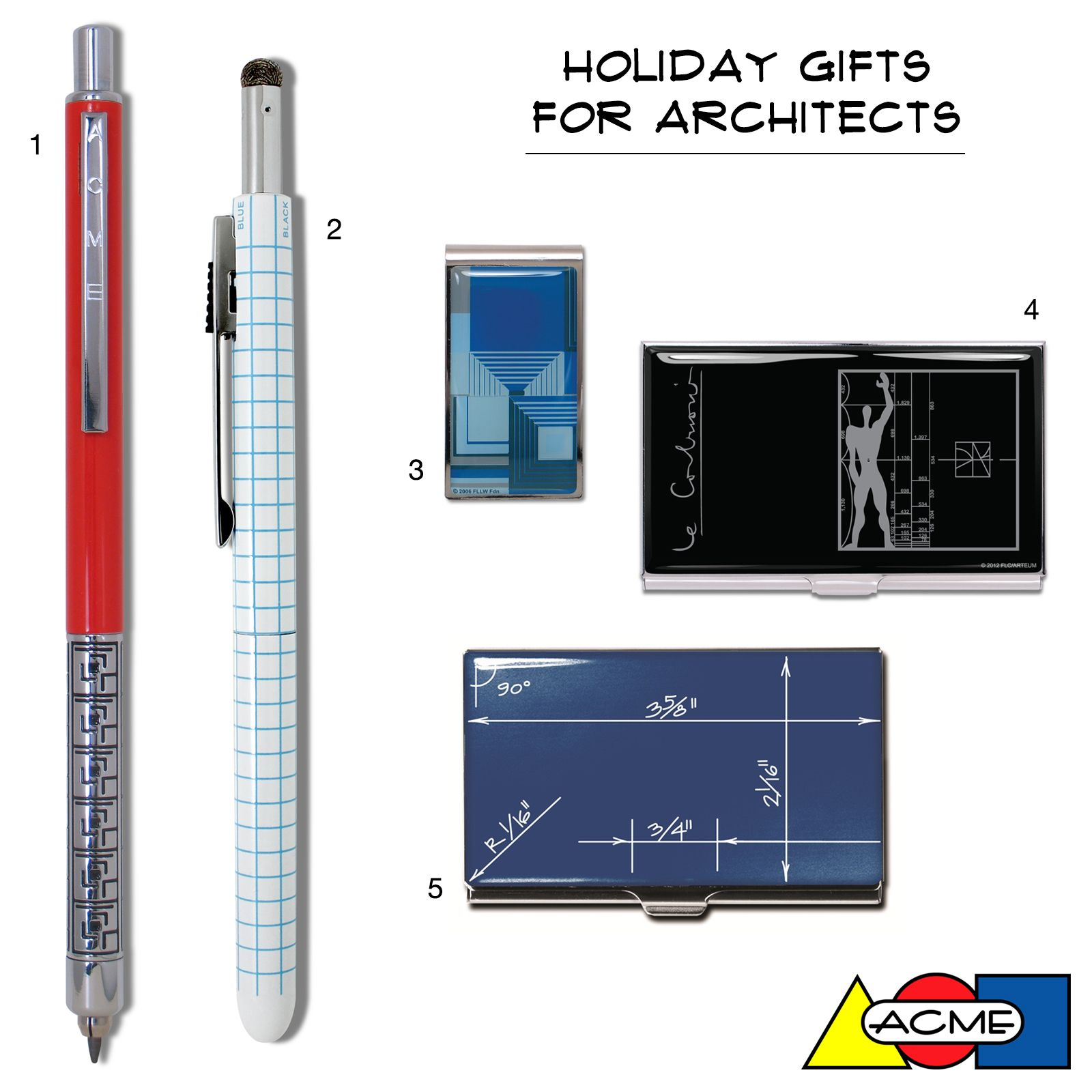 Architect Gift holiday gifts for architectsacme studio! featured: 1. flw