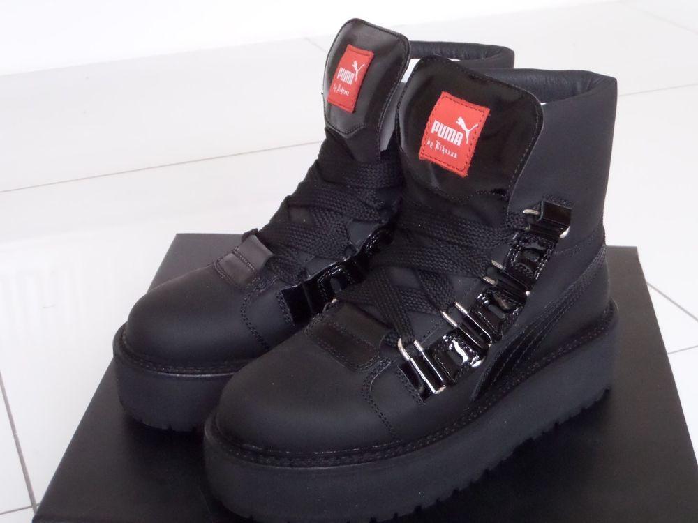 e5dcfd37fce NEW PUMA RIHANNA Fenty SB Black Eyelet 363040 01 Boots Sneakers Shoes UK 6   325.