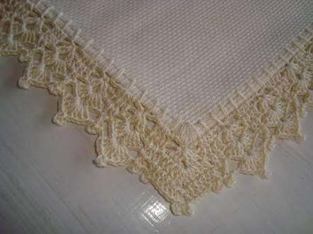 Bico de croche para toalha de mesa