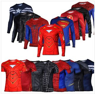Mens Compression Armour Base Layer Top Long Sleeve Gym Thermal Sports Shirt