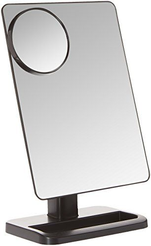 Krasr Touch Screen 20 Led Lighted Makeup Mirror With Removable 10x Magnifying Mirrors
