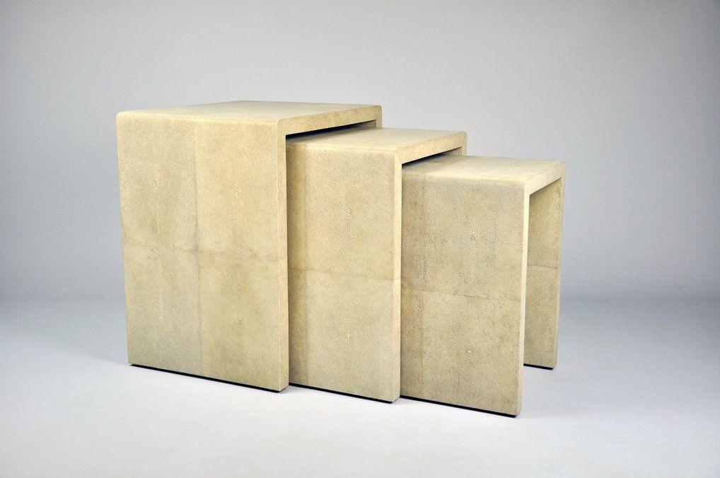 ginger brown france galuchat shagreen furniture