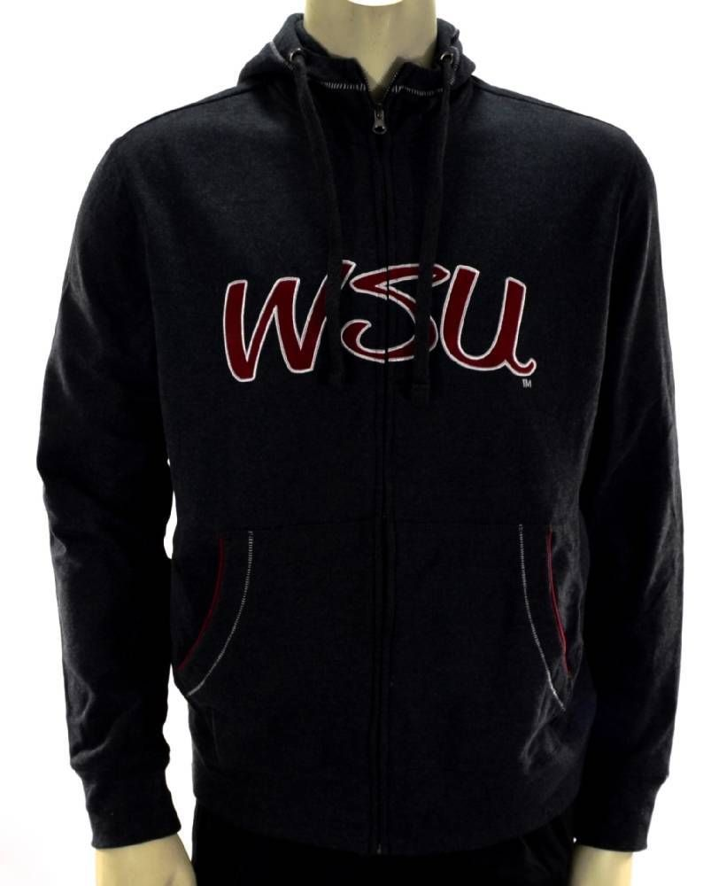 Campus drive gray college hoodie washington state athletic