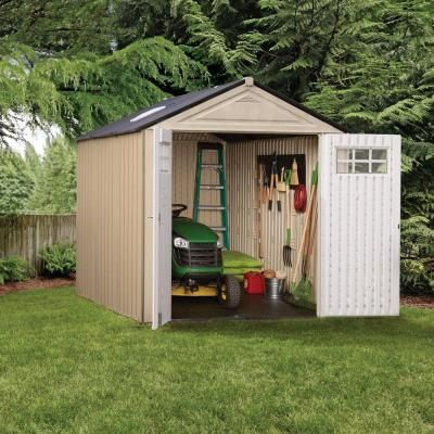 Rubbermaid Big Max 11 ft. x 7 ft. Ultra Storage Shed-1862548 - The Home Depot & Rubbermaid Big Max 10 ft. 7 in. x 7 ft. 3 in. Ultra Resin Storage ...
