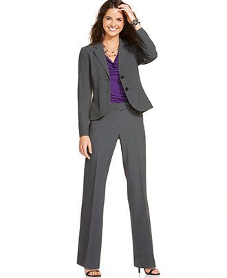Calvin Klein Petite Stretch Blend Suit Separates Collection Womens
