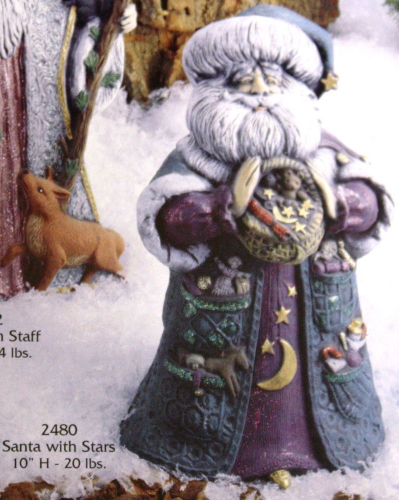 Santa with Moon and Stars 10 Ceramic Bisque Ready to Paint