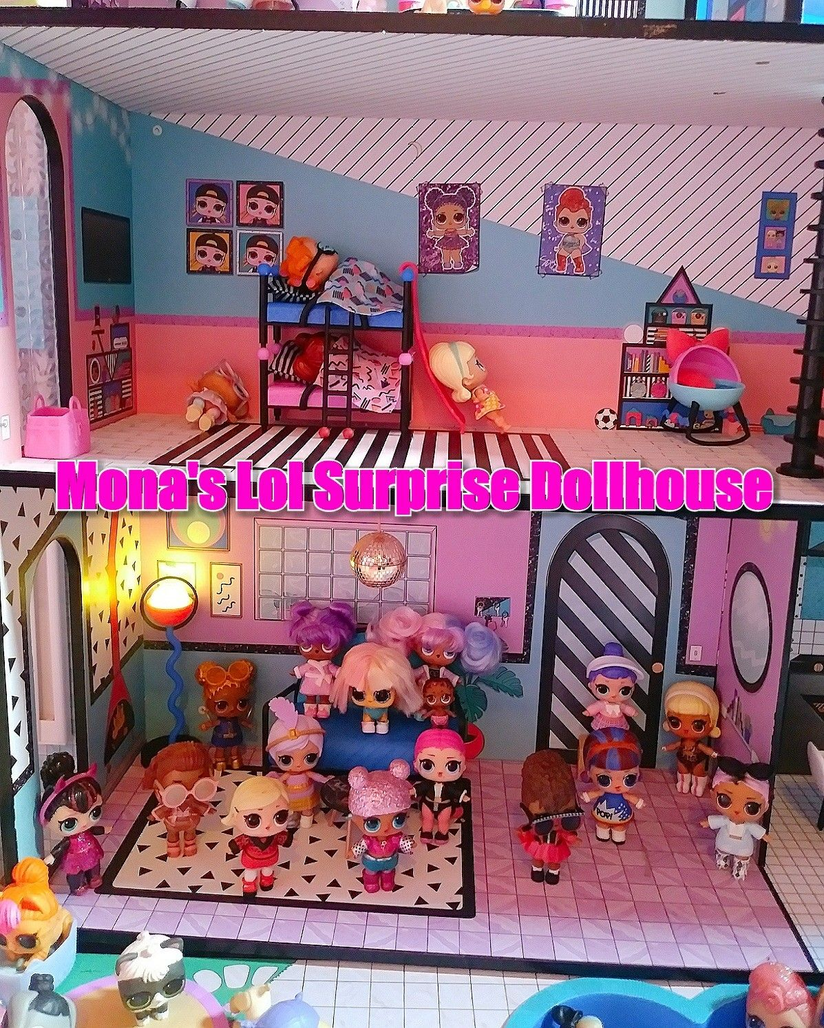 My Daughter S Lol Surprise Dollhouse With Some Of Her New Lol Surprise Under Wraps Lol Surprise Bigge Designer Brands Fashion To My Daughter Doll House