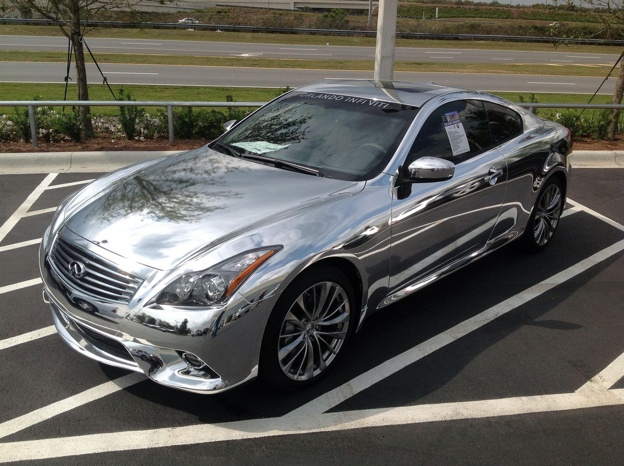 Chrome Color Change Car Wrap By Technosigns In Orlando Florida