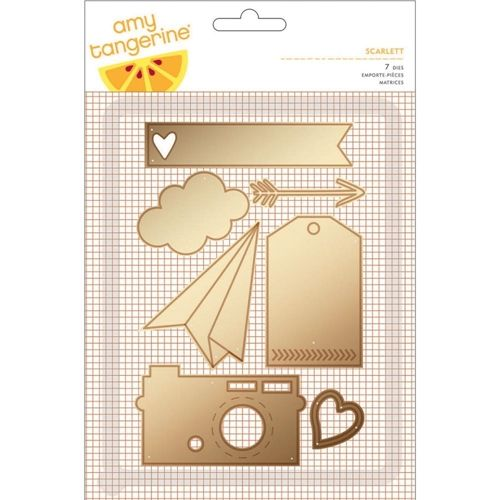 American Crafts Amy Tangerine SCARLETT Dies Rise and Shine 370052