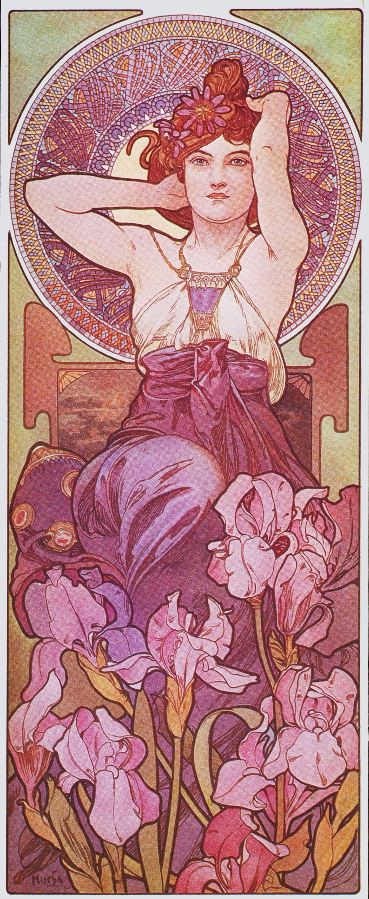 Alphonse Mucha The Precious Stones Amethyst