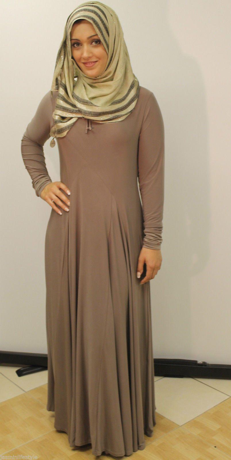 493694bd1c89a LadiesBeautiful New Fashion Flared Umbrella Cut Muslim Abaya Jilbab Hijab  Dress | eBay