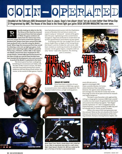 The House of the Dead (Sega Saturn)   Retro Gaming   Sega