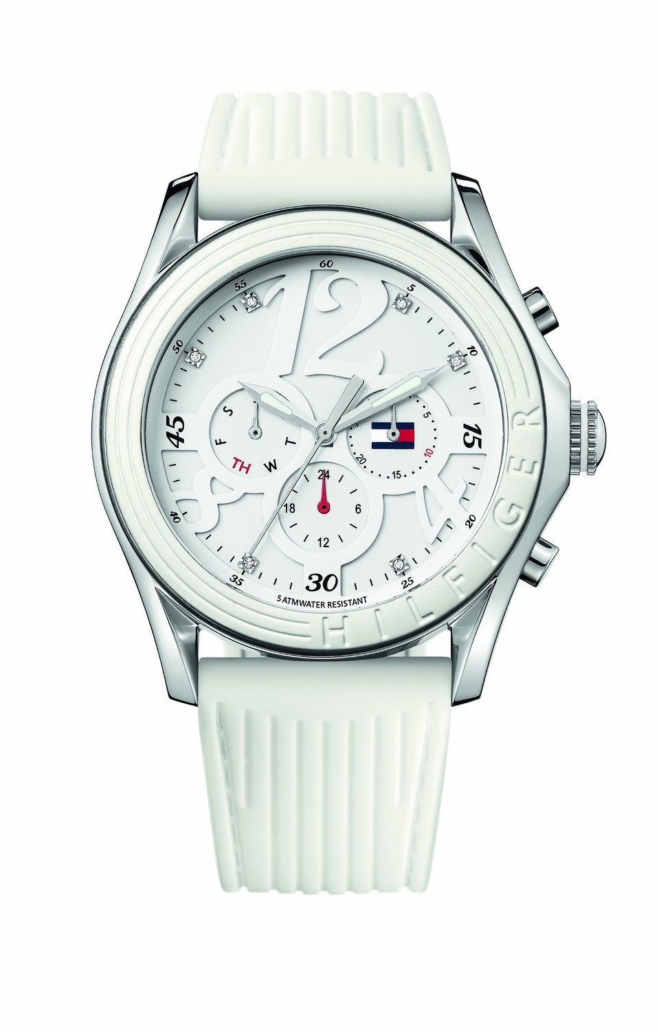 c48aaeea1d1 Buy Tommy Hilfiger Chronograph White Dial Women s Watch - TH1780968J Online  at Low Prices in India - Amazon.in