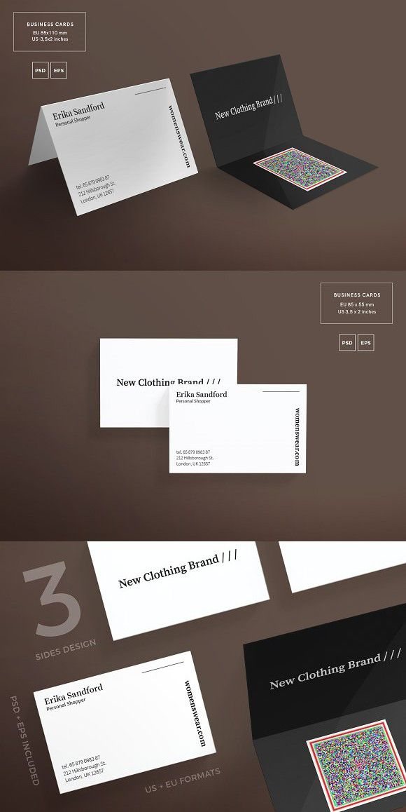 Business Cards | Women Fashion | Business cards, Card templates and ...