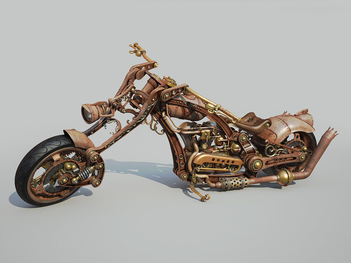 мотоциклы в стиле стимпанк картинки было, желание