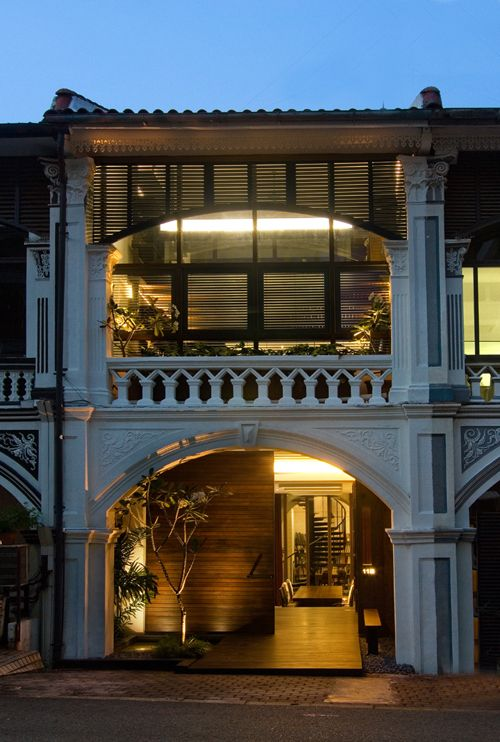 Interesting House Exterior Design In Kulai Malaysia: Singapore Colonial Architecture. THE LIBYAN Esther Kofod Www.estherkofod