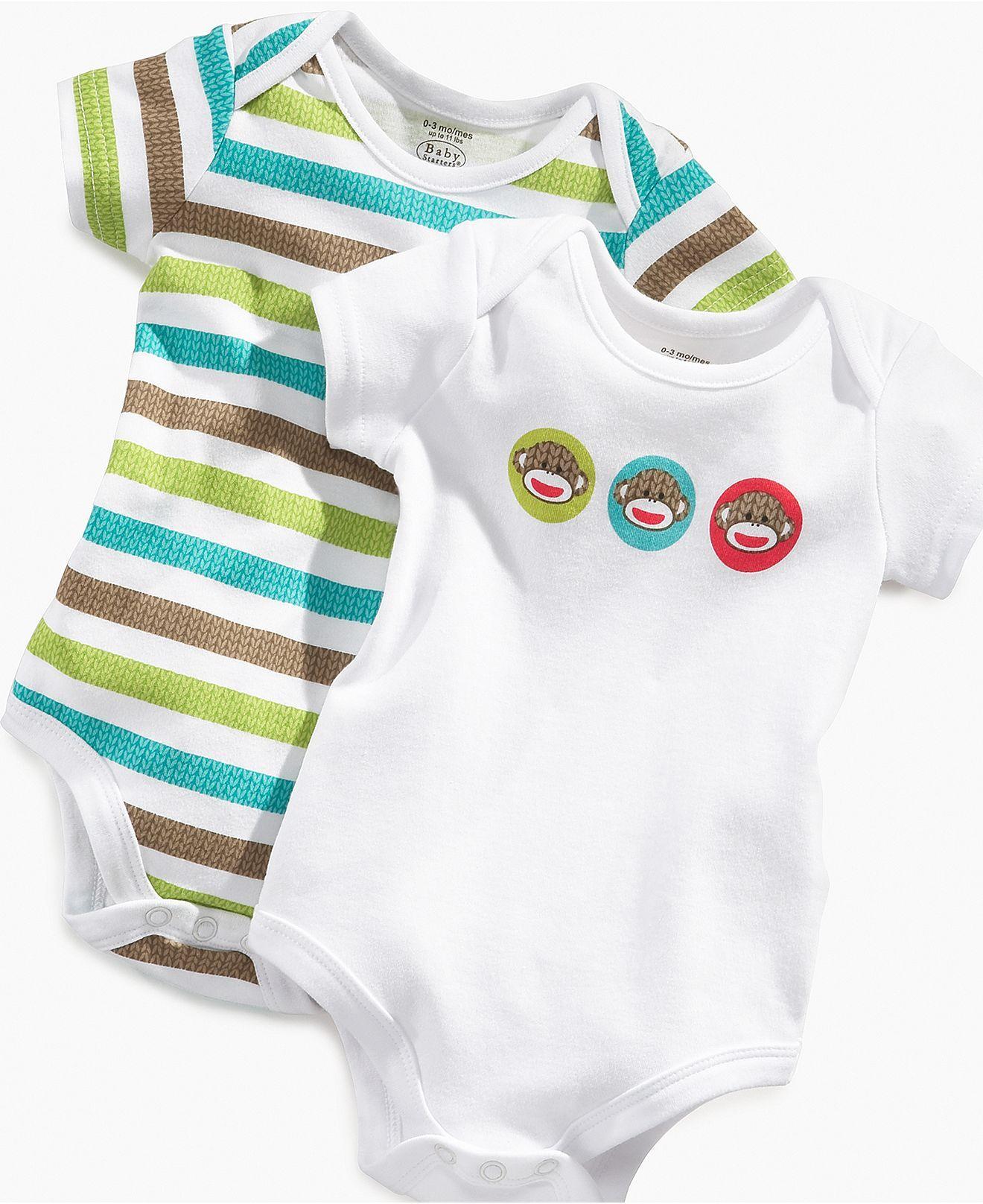 Macy s Sock Monkey Boys Bodysuits Boys cloths Pinterest
