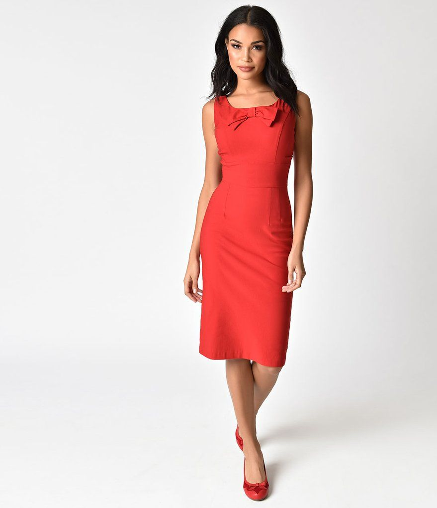 Stop Staring 1940s Style Little Red Wiggle Dress Red Wiggle Dress Dresses 1940s Fashion [ 1023 x 879 Pixel ]