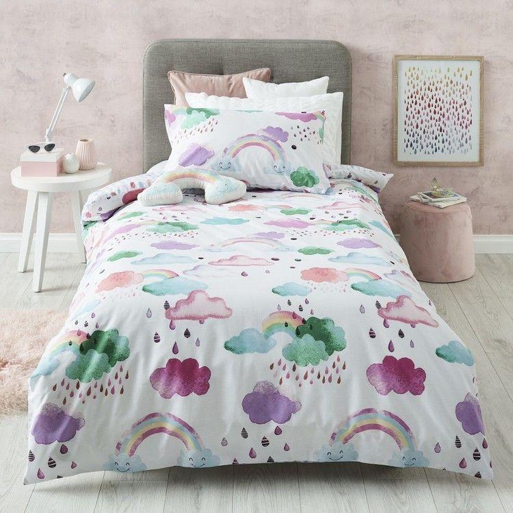 Kids House Little Dreamer Quilt Cover Set Multicoloured Kids Bed Linen Kids Lighting Bedroom Kids Sheet Sets