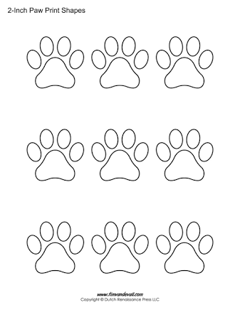 Image result for paw print templates | Aiden bday party | Pinterest
