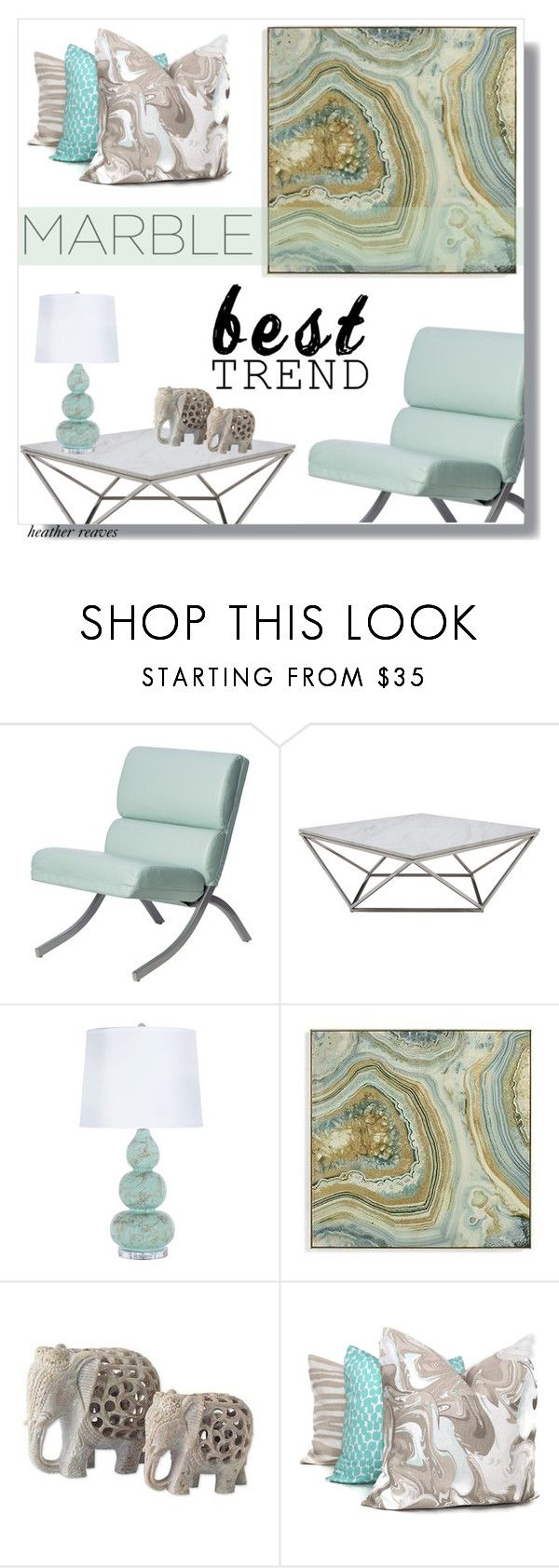 """""""Classic Elegance: Marble Home"""" by heather-reaves ❤ liked on Polyvore featuring interior, interiors, interior design, home, home decor, interior decorating, I Love Living, Nuevo, Grandin Road and NOVICA"""