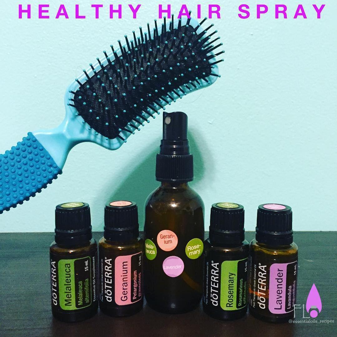 """""""Healthy hair spray 2 drops of each oil (Rosemary"""