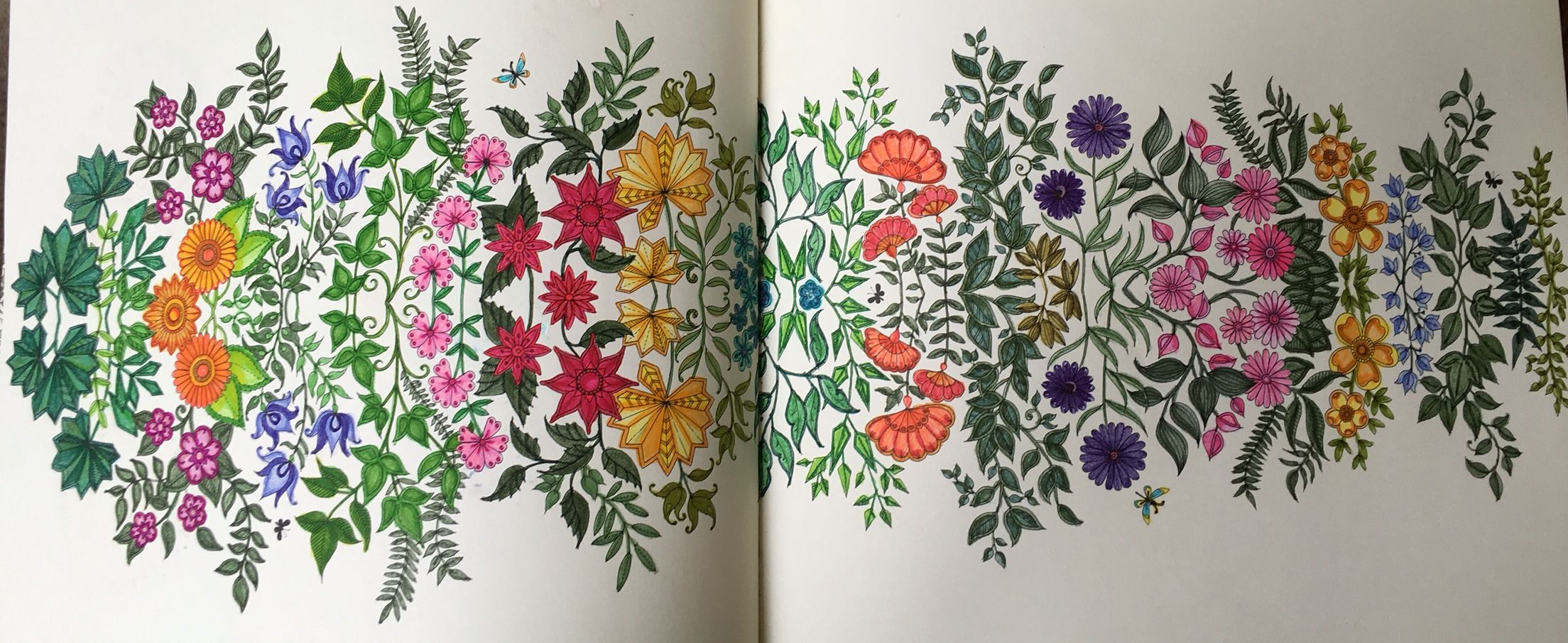 Secret Garden coloring book, Tom Bow markers | My finished coloring ...