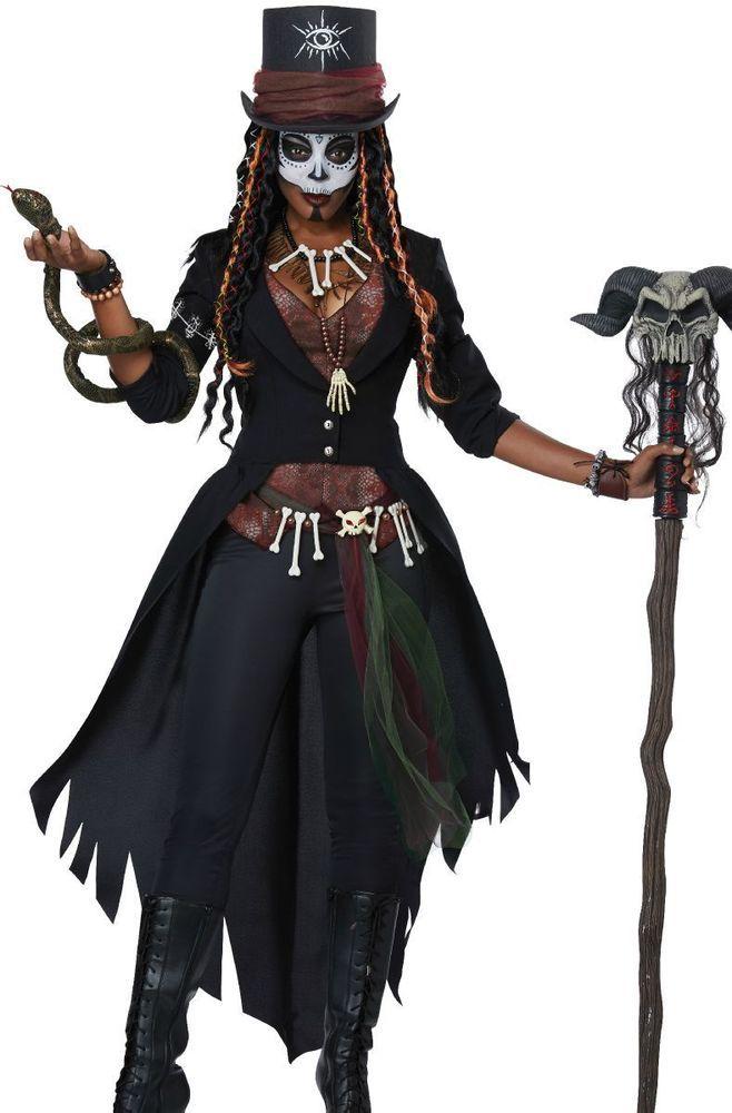 Damen Karneval Fasching Verkleidung Kostüm Skull Lady Piratin Kostüm NEU