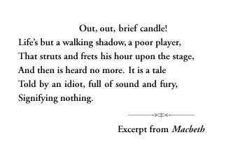 Life-from Macbeth | Poetry | Pinterest